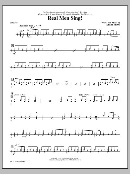 Real Men Sing! - Drums (Choir Instrumental Pak)