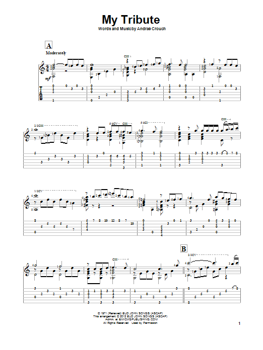 My Tribute (Solo Guitar Tab)
