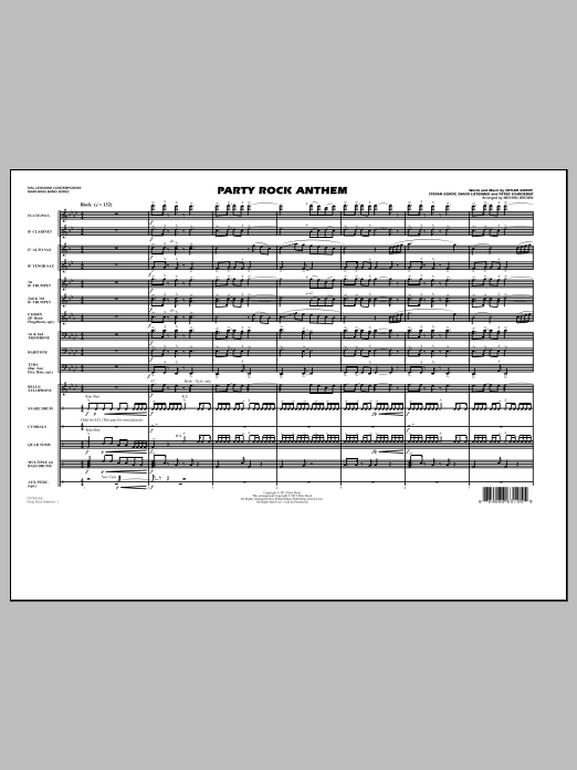 Party Rock Anthem - Full Score (Marching Band)