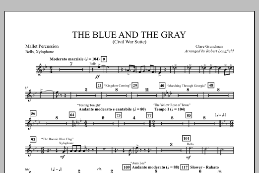 The Blue And The Gray (Young Band Edition) - Mallet Percussion Sheet Music