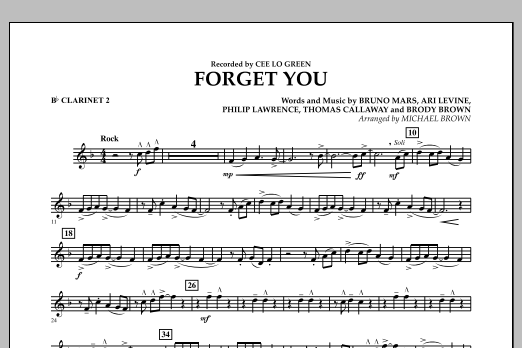 Forget You - Bb Clarinet 2 (Concert Band)
