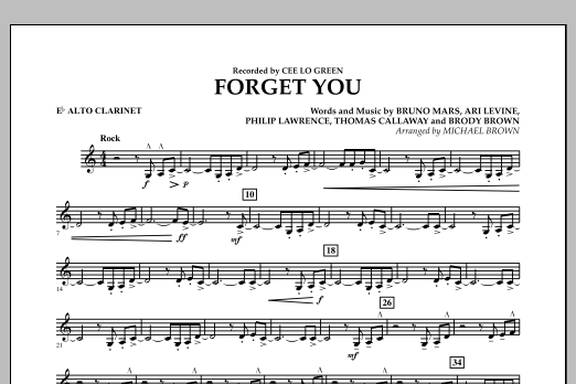 Forget You - Eb Alto Clarinet (Concert Band)