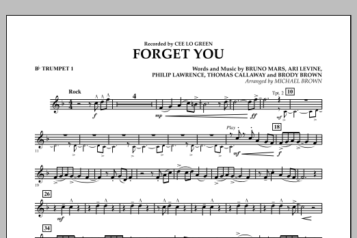 Forget You - Bb Trumpet 1 (Concert Band)