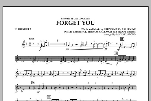 Forget You - Bb Trumpet 2 (Concert Band)