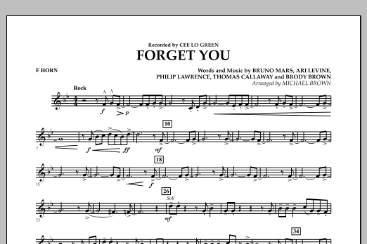 Forget You - F Horn (Concert Band)