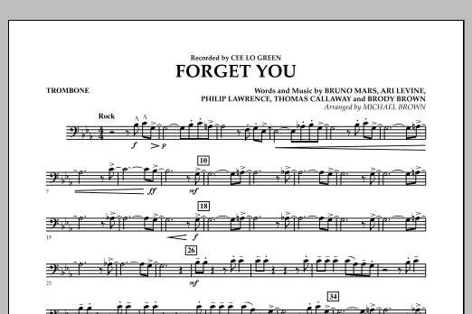 Forget You - Trombone (Concert Band)