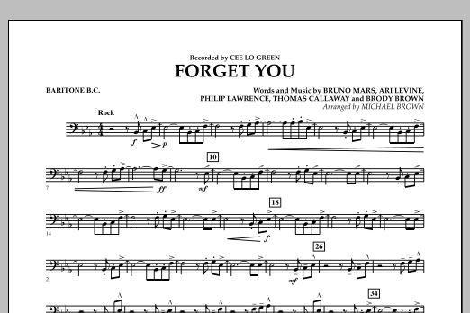Forget You - Baritone B.C. (Concert Band)