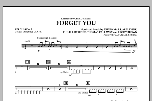 Forget You - Percussion 2 (Concert Band)