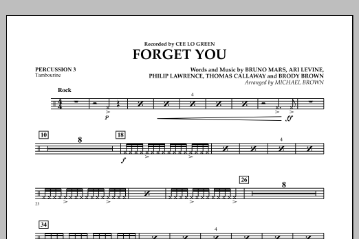 Forget You - Percussion 3 (Concert Band)