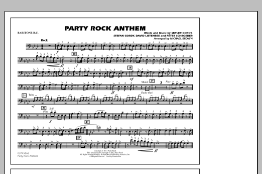 Party Rock Anthem - Baritone B.C. (Marching Band)