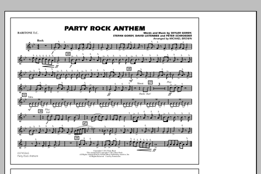Party Rock Anthem - Baritone T.C. (Marching Band)
