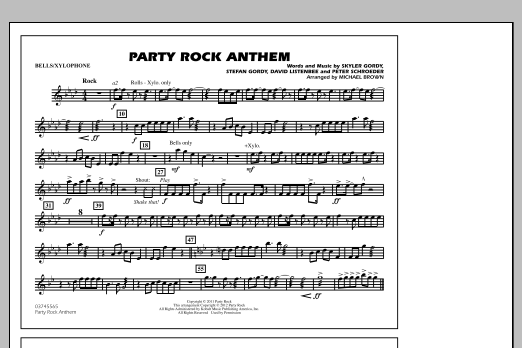 Party Rock Anthem - Bells/Xylophone (Marching Band)