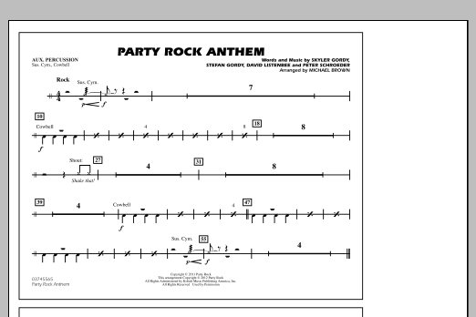Party Rock Anthem - Aux Percussion (Marching Band)