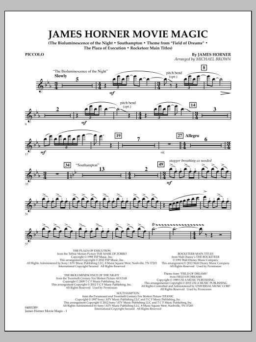 James Horner Movie Magic - Piccolo (Concert Band)