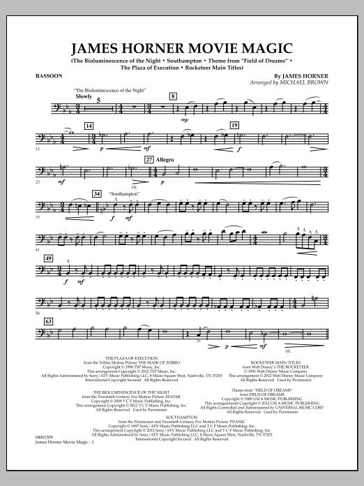 James Horner Movie Magic - Bassoon (Concert Band)