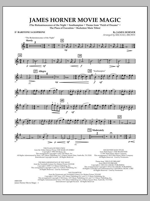 James Horner Movie Magic - Eb Baritone Saxophone (Concert Band)