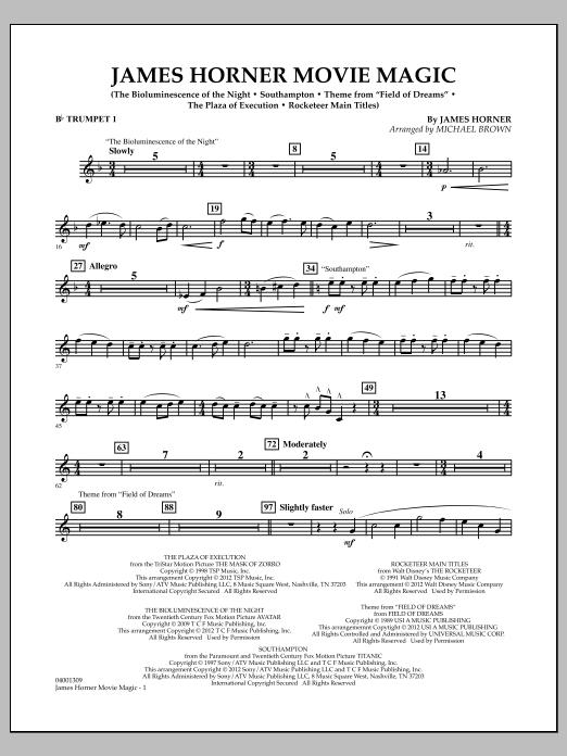 James Horner Movie Magic - Bb Trumpet 1 (Concert Band)