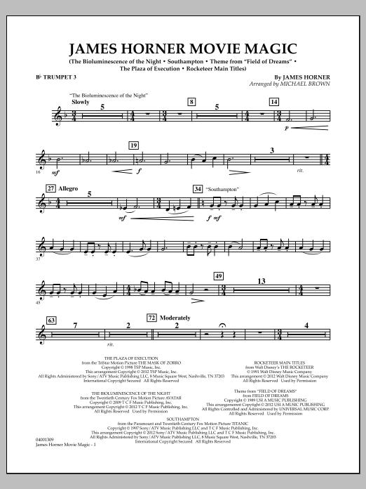 James Horner Movie Magic - Bb Trumpet 3 (Concert Band)