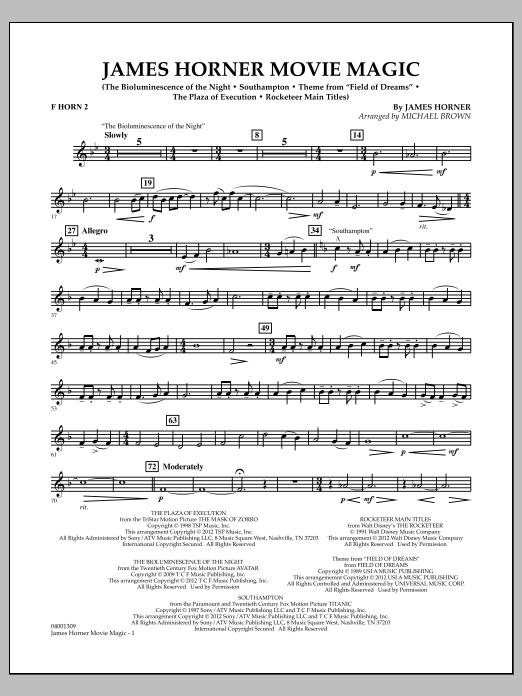 James Horner Movie Magic - F Horn 2 (Concert Band)