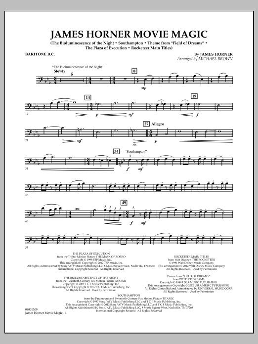 James Horner Movie Magic - Baritone B.C. (Concert Band)