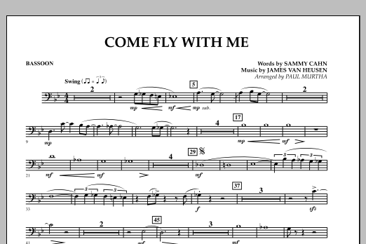 Come Fly With Me - Bassoon (Concert Band)