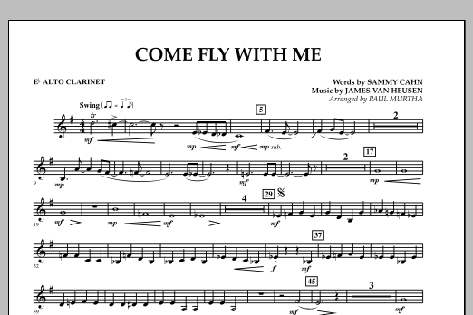 Come Fly With Me - Eb Alto Clarinet (Concert Band)