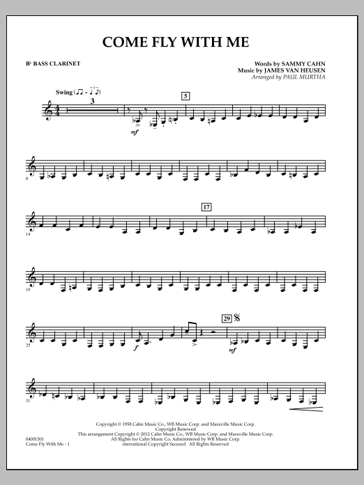 Come Fly With Me - Bb Bass Clarinet (Concert Band)