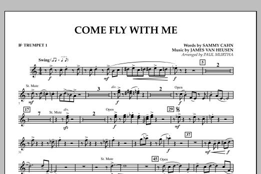 Come Fly With Me - Bb Trumpet 1 (Concert Band)