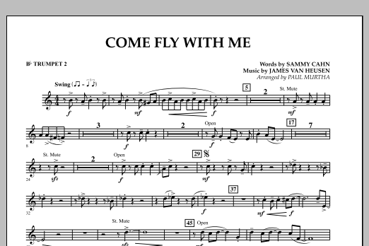 Come Fly With Me - Bb Trumpet 2 (Concert Band)
