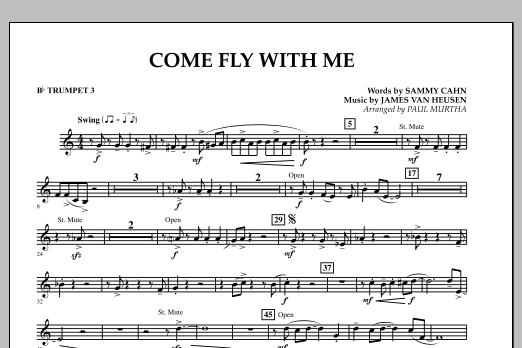 Come Fly With Me - Bb Trumpet 3 (Concert Band)
