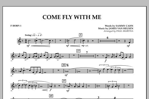 Come Fly With Me - F Horn 1 (Concert Band)