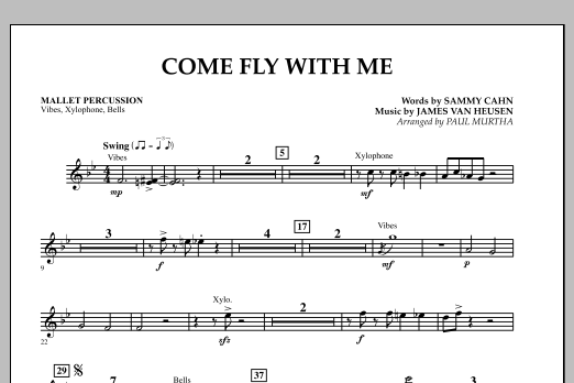 Come Fly With Me - Mallet Percussion (Concert Band)
