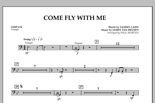 Come Fly With Me - Timpani (Concert Band)