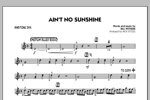 Ain\'t No Sunshine - Baritone Sax - Sheet Music to Download