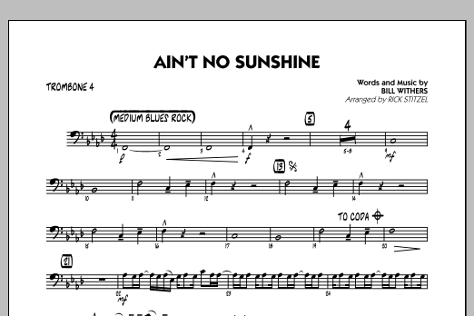 Ain T No Sunshine The record featured musicians donald duck dunn on bass guitar, al jackson, jr. ain t no sunshine