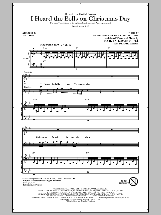 I Heard The Bells On Christmas Day (arr. Mac Huff) Sheet Music