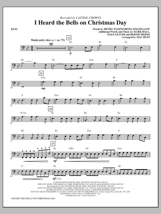 I Heard The Bells On Christmas Day - Bass Sheet Music