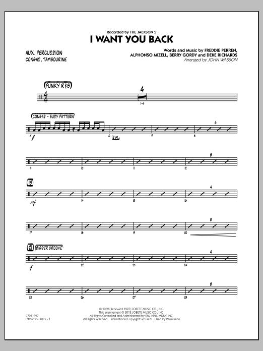 I Want You Back - Aux Percussion (Jazz Ensemble)