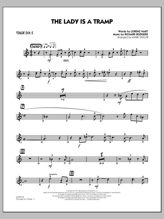 The Lady Is A Tramp - Tenor Sax 2 (Jazz Ensemble)