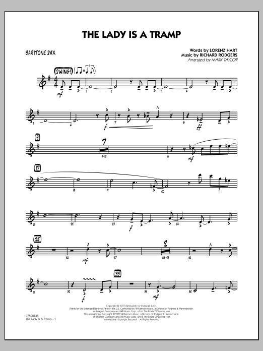 The Lady Is A Tramp - Baritone Sax (Jazz Ensemble)
