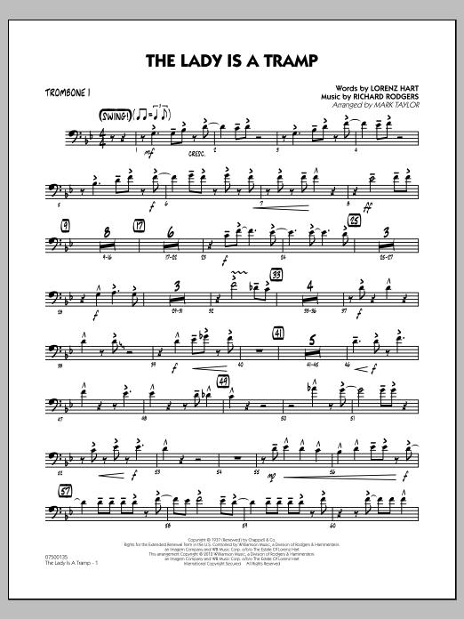 The Lady Is A Tramp - Trombone 1 (Jazz Ensemble)