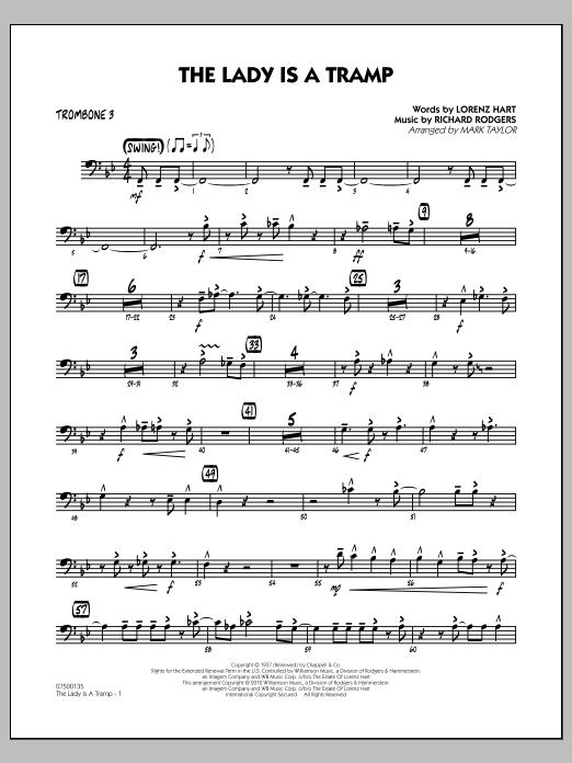 The Lady Is A Tramp - Trombone 3 (Jazz Ensemble)