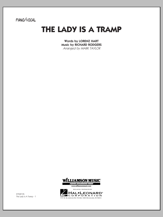 The Lady Is A Tramp - Piano/Vocal (Jazz Ensemble)