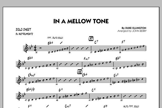 In A Mellow Tone - Bb Solo Sheet (Jazz Ensemble)