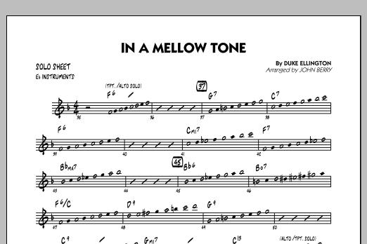 In A Mellow Tone - Eb Solo Sheet (Jazz Ensemble)