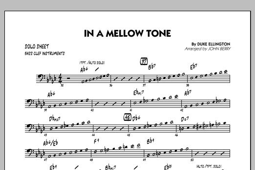 In A Mellow Tone - Bass Clef Solo Sheet (Jazz Ensemble)