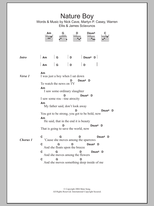 nature boy piano sheet music pdf
