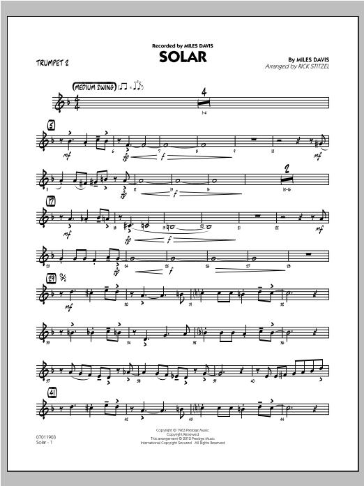 Solar - Trumpet 2 (Jazz Ensemble)