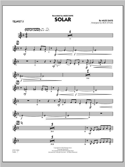 Solar - Trumpet 3 (Jazz Ensemble)