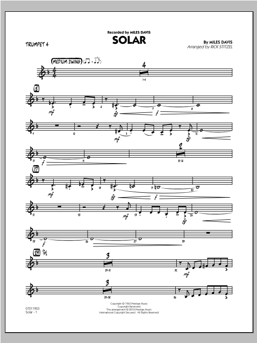 Solar - Trumpet 4 (Jazz Ensemble)